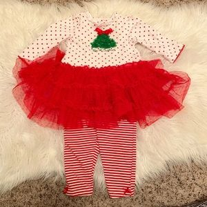 1st Christmas Baby Girl Outfit